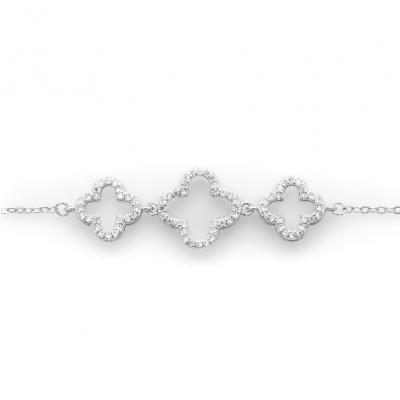 Сребърна гривна Детелини 200