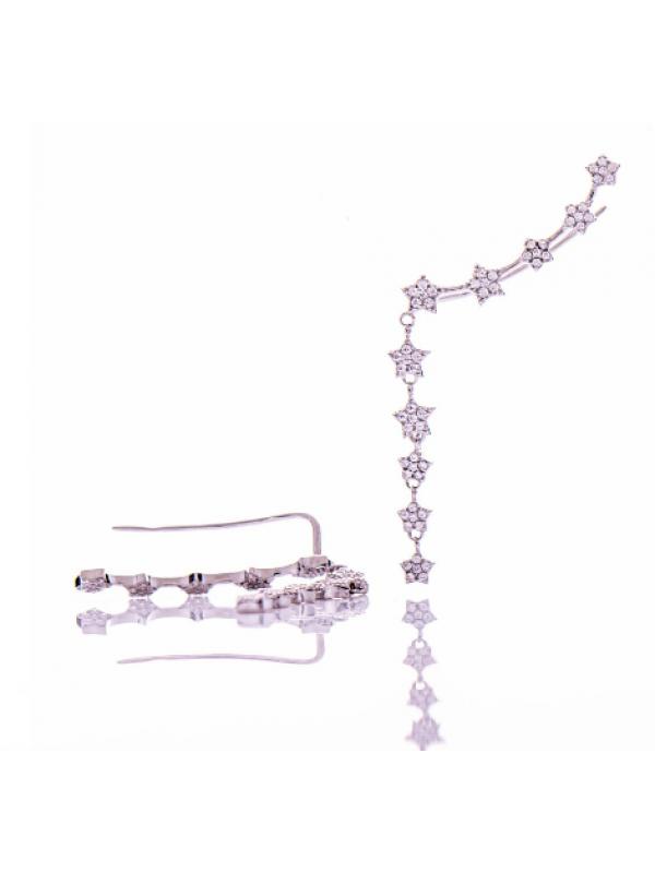 Сребърни обеци фиби Звездички