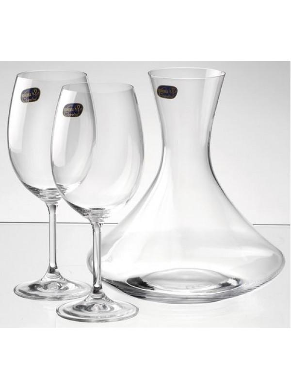 Комплект чаши за вино и гарафа