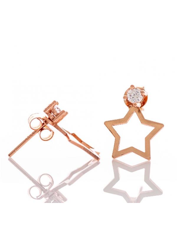 Сребърни обеци Звездички
