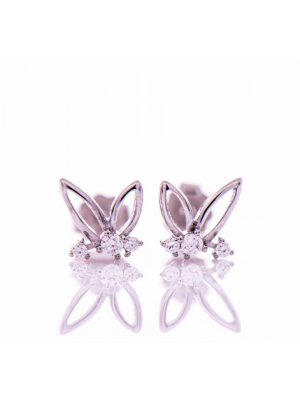 Сребърни обеци Пеперуди