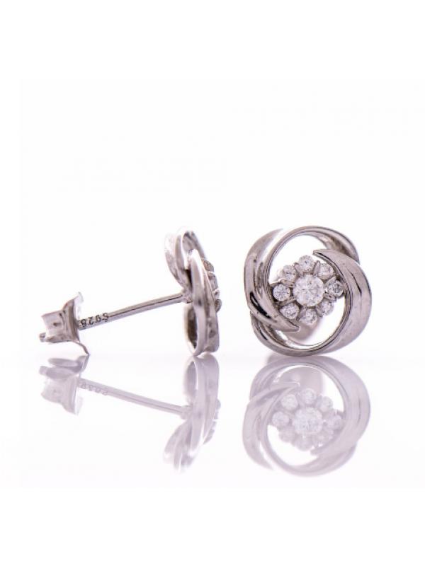 Сребърни обеци Нежно цвете