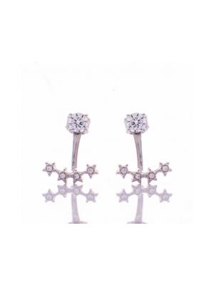 Сребърни обеци Звездички 433