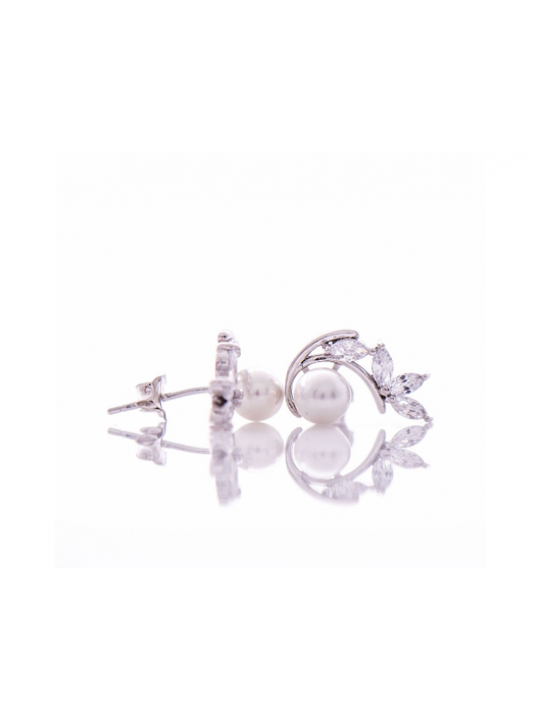 Сребърни обеци Перли