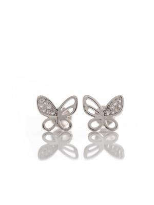 Сребърни обеци Пеперудки