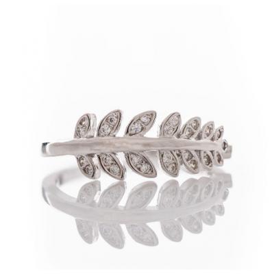 Сребърен пръстен Листенца