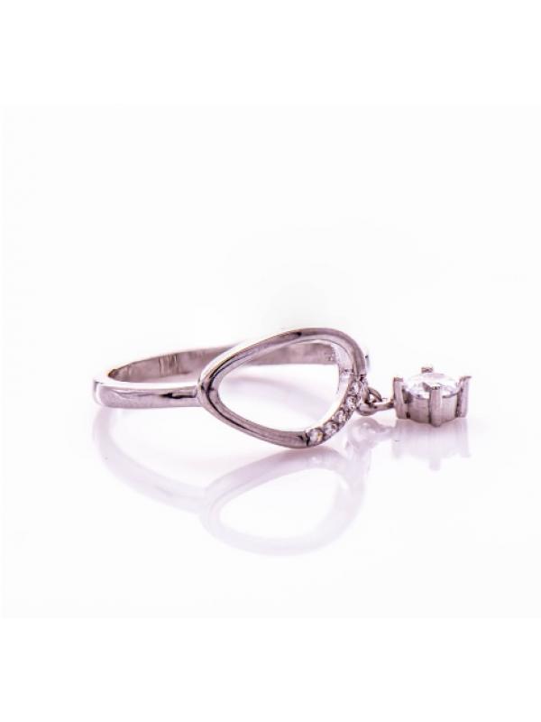 Сребърен пръстен с висулка циркон