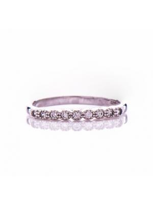 Сребърен пръстен Ред циркони