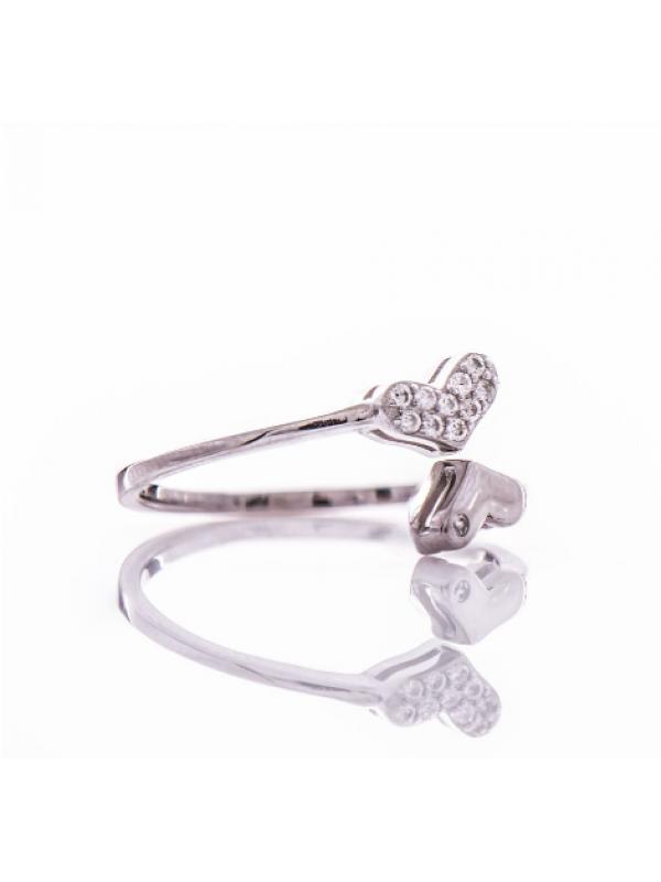 Сребърен пръстен Сърца