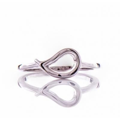 Сребърен пръстен Листенце