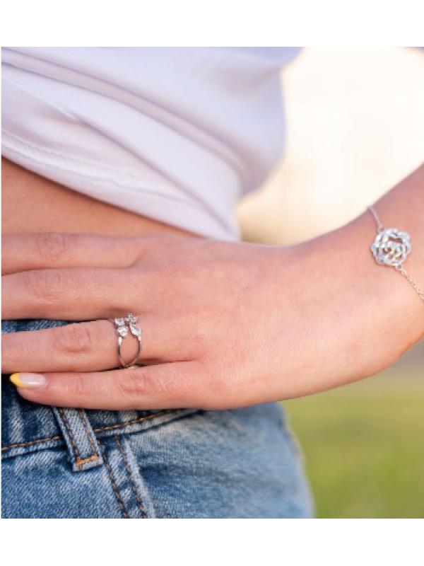 Сребърен пръстен Четири елемента