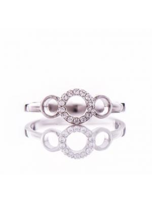 Сребърен пръстен Кръгове