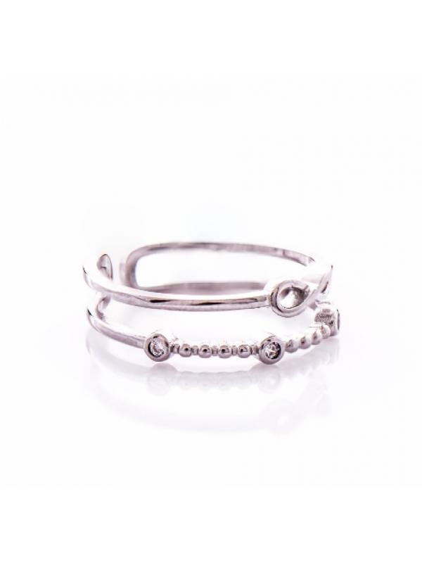 Сребърен пръстен Безкрайност двоен