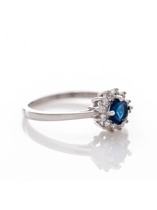 Сребърен пръстен Сапфир