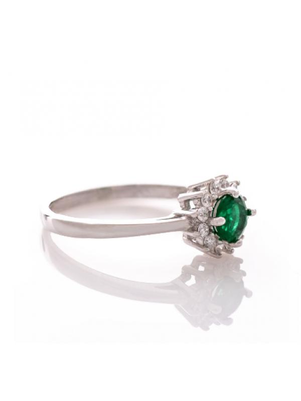 Сребърен пръстен Турмалин