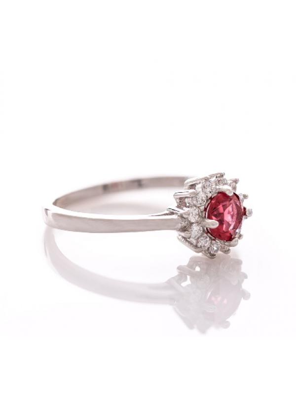 Сребърен пръстен Рубин