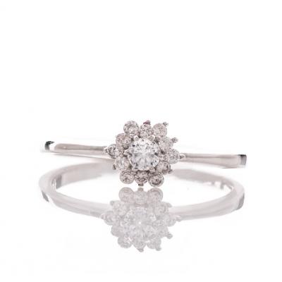 Сребърен пръстен Циркони
