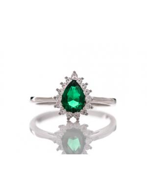Сребърен пръстен капковиден Турмалин