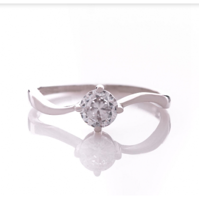 Сребърен пръстен Циркон