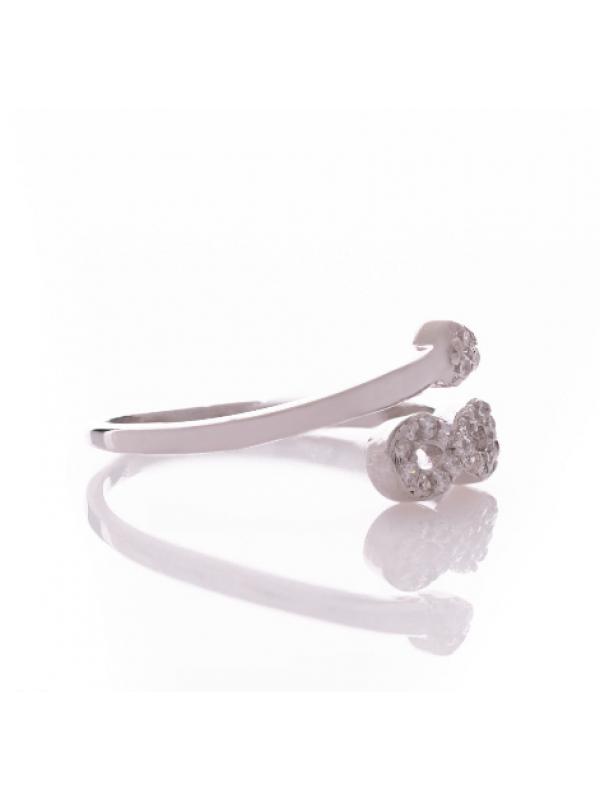 Сребърен пръстен Безкрайност със сърце