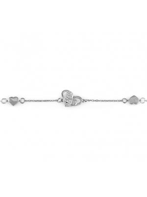 Сребърна гривна Сърце 140