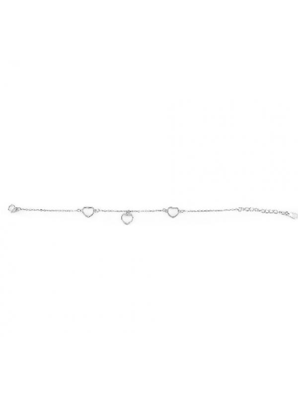 Сребърна гривна Сърца 152