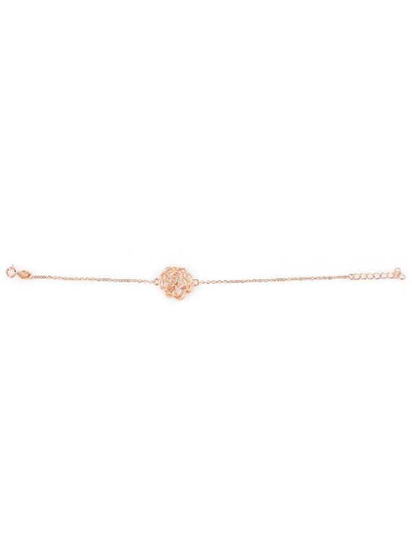 Сребърна гривна Цветенце 159