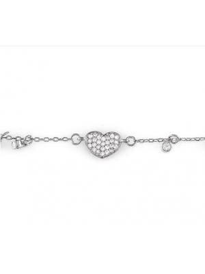 Сребърна гривна Сърчице 164