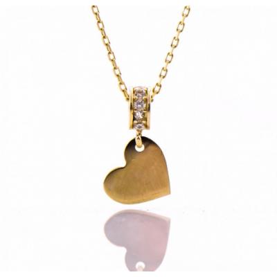 Златно колие Сърце 028
