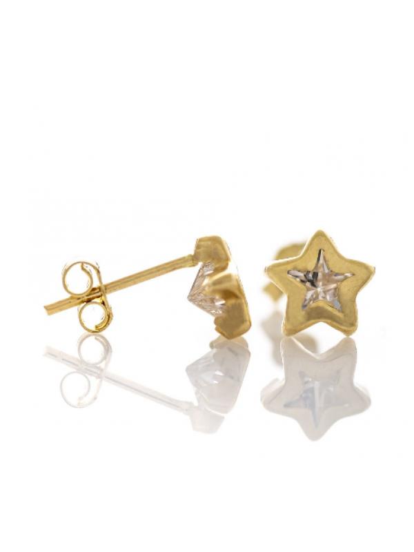 Златни обеци Звездички 554