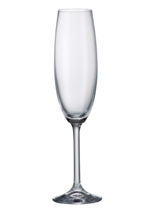Чаши за шампанско Bohemia Crystalite Гастро 220мл
