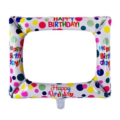 "Балон Фоторамка ""Happy Birthday"""