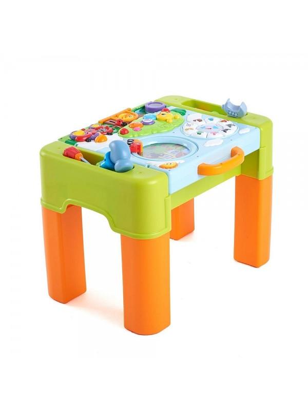 Умна интерактивна маса за бебе, за игра, 6 в 1