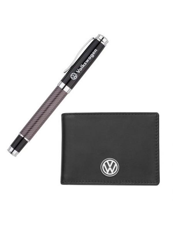 Сет от химикал и калъф за документи с логото на Volkswagen
