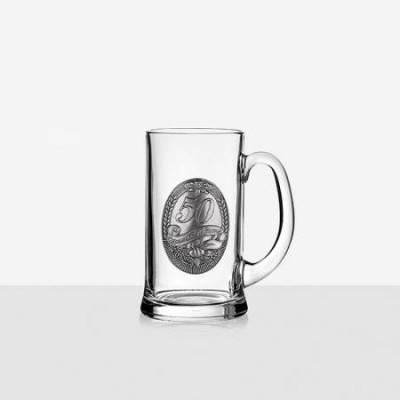 Халба за бира с надпис 50г юбилей