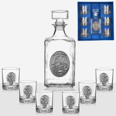 Сет бутилка и 6 чаши за 50-я юбилей