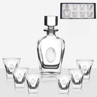 Сет за уиски Fusion с посребрена плочка