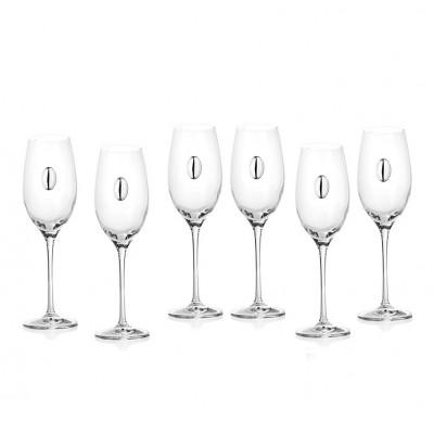 Комплект чаши за шампанско Invino със сребърна плочка