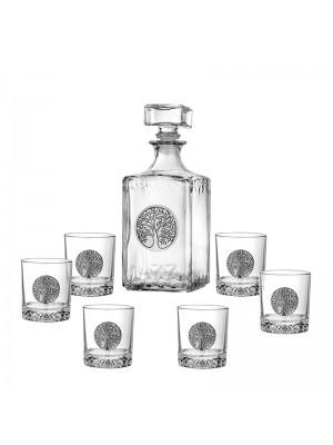Сет бутилка и 6 чаши Дървото на живота