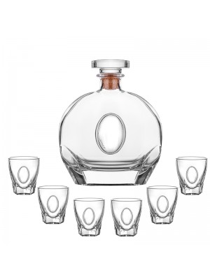 Сет бутилка и 6 чаши за ракия Puccini