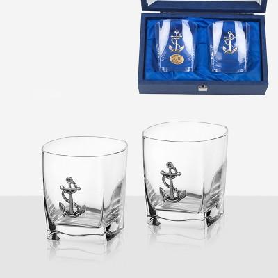 Комплект 2 чаши за уиски с котва