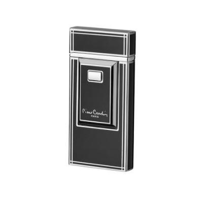 Черна запалка със сребърен надпис Pierre Cardin