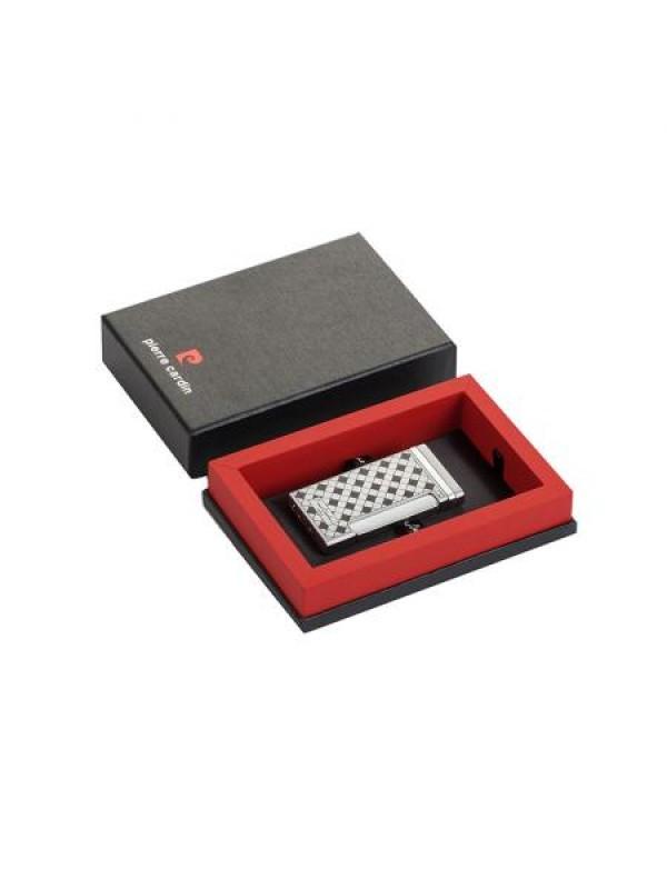 Стилна запалка в сребърно шах мат Pierre Cardin