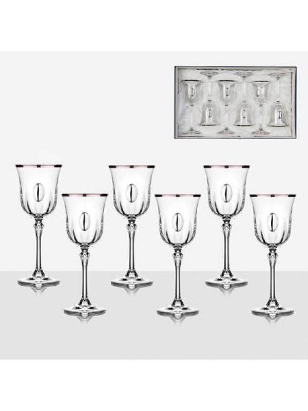 Комплект чаши за вино Ludovica с плочка
