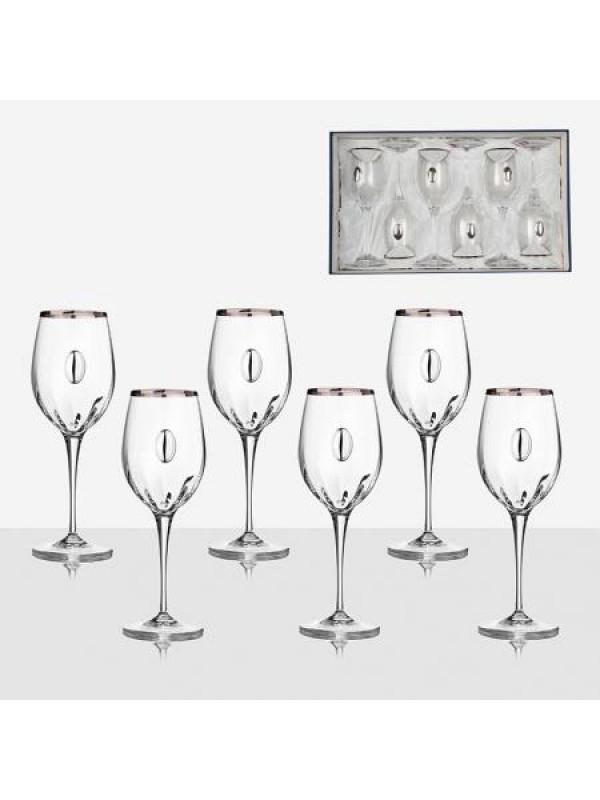 Комплект чаши за червено вино Monalisa с плочка