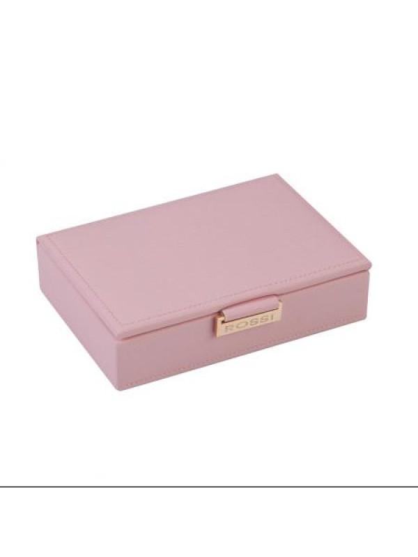 Кутия за бижута цвят пудра Rossi малка