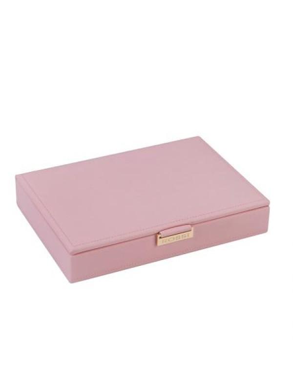 Кутия за бижута в цвят пудра Rossi