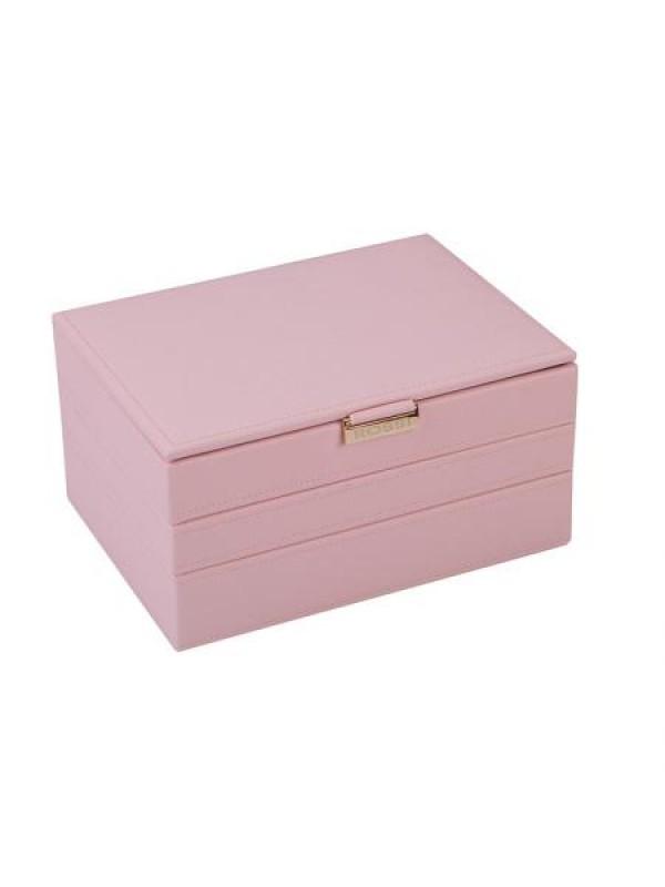 Кутия за бижута цвят пудра Rossi голяма