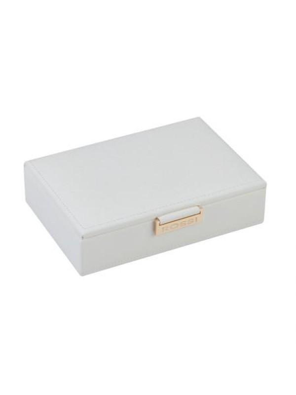 Кутия за бижута в бял цвят Rossi малка