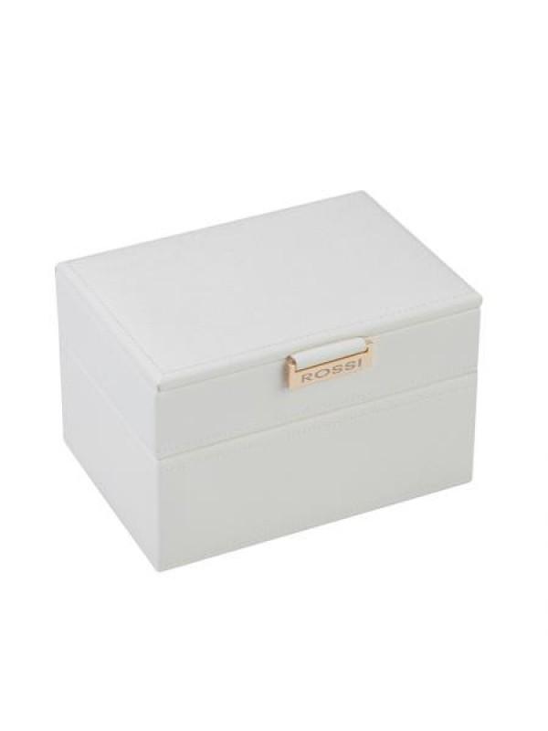 Кутия за бижута в бял цвят Rossi средна